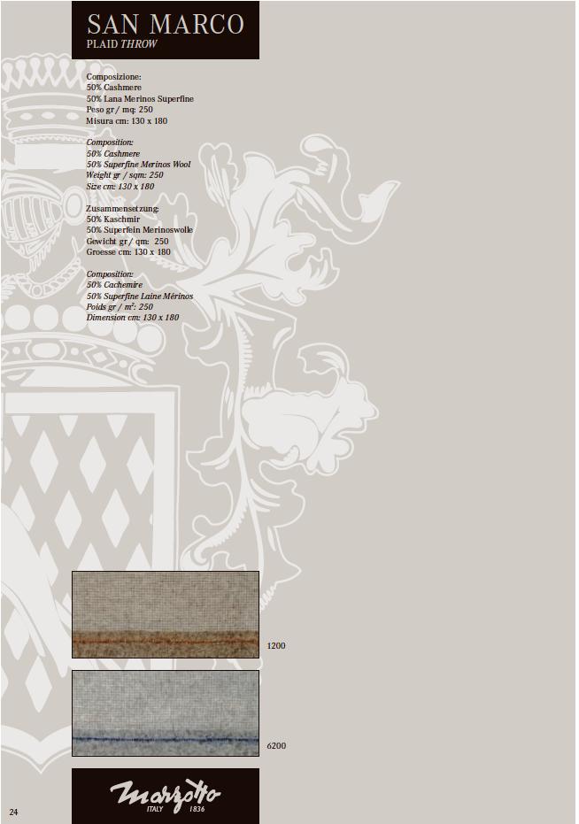 Плед San Marco, 1 пр, на выбор, 130 180см, Marzotto, Пледы, Италия f4871028152