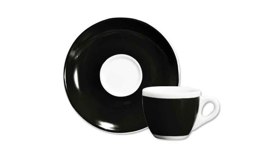 Ancap, VERONA MILLECOLORI AP-33015, Кофейная пара для эспрессо, черная, 75 мл, высота 55 мм