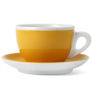 Ancap, VERONA MILLECOLORI AP-33027, Кофейная пара для латте, желтая, 350 мл, высота 75 мм