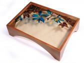 Столик для чайной церемонии Витраж, темное дерево, 53x33x21,5 см, Россия