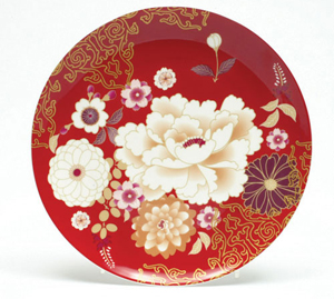 Maxwell & Williams Kimono Cake Plate Red_1 (копия)
